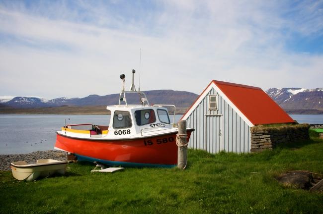 Boot mit Haus